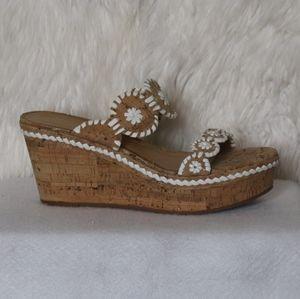 Jack Rogers Cork Wedge Sandals